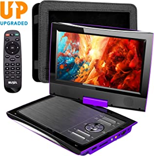 SUNPIN Upgrated PD969 Portable DVD Player (Purple)