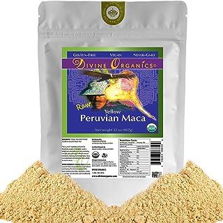 Divine Organics 2 Lb / 32 Ounce - Raw Peruvian Maca Powder - Certified Organic - Vegan, Antioxidant, Gluten Free - Mix in ...