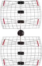 Antennas Direct 4-Element Bowtie TV Antenna, 60 Miles Range, Multi-Directional, Indoor, Attic, Outdoor Applications, All-Weather Mounting Hardware, Adjustable Mast Clamp, 4K Ready, Silver - DB4e - DB4-E