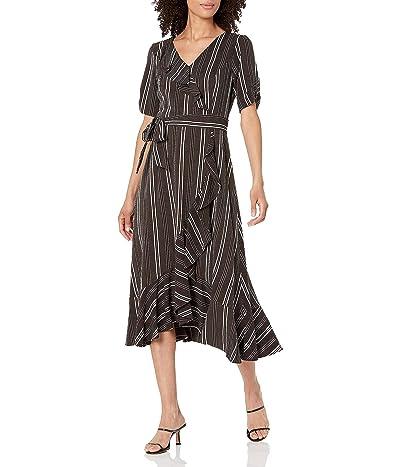 Calvin Klein Ruffle Front Wrap Dress