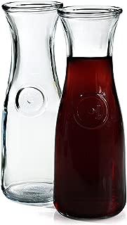 Anchor Hocking 0.5 Liter Glass Wine Carafe, Set of 2