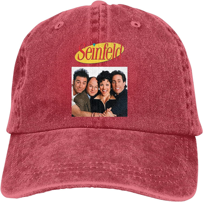 Unisex Baseball Caps Golf Hat Seinfeld Cowboy Hats for Men and Women Black