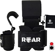 Roar® Metalen Gewichthefhaken, Gym Grip Straps, Weightlifting Hooks, Bodybuilding hooks, wrist wraps with hook, sportschoo...