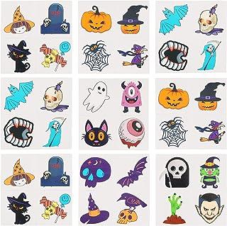 Beaupretty 36Pcs Tijdelijke Tattoos Ghost Pompoen Vleermuis Schedel Nep Tatoeages Stickers Halloween Tattoo Decals Voor Ha...