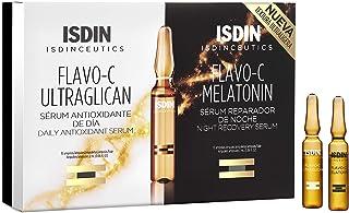 Isdin Isdinceutics Pack Day & Night Flavo-C Ultraglican + Flavo-C Melatonin | Tratamiento Día y Noche Antioxidante Reparad...