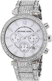Michael Kors Women's 'Parker' Silver Super Glitz Watch - MK5572