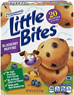 Entenmann's Little Bites Blueberry Mini Muffins made with Real Blueberries, 5 pouches