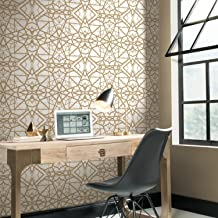 RoomMates White and Gold Shatter Geometric Peel and Stick Wallpaper