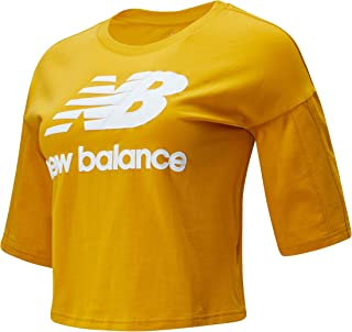 New Balance Women Nb Athletics Short Sleeve Stacked Tee Top