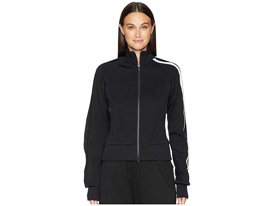 Image of adidas Y-3 by Yohji Yamamoto 3 Stripes Selvedge Matt Track Jacket (Black/Core White) Women's Coat
