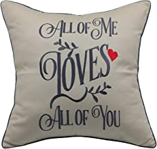 YugTex Pillowcase All of me Loves All of You Pillow,John Legend Song Lyrics,AnniversaryGifts for Women,Valentine's Gift,Gifts for Husband,Wedding GIF(18