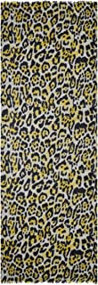 Ahujasons Mujeres carremero mezcla leopardo impresión bufanda Amarillo