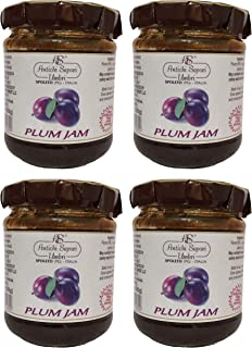 Plum Jam 200gr - 7.05oz   Pack of 4   Directly imported from selected artisanal farms in Italy
