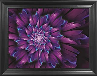 Cyan Flower Large 3D Poster Wall Art Decor Framed Print | 22.5x26.5 | Lenticular Posters & Pictures | Memorabilia Gifts for Guys & Girls Bedroom | Beautiful Nature Garden Artwork of Purple Plants
