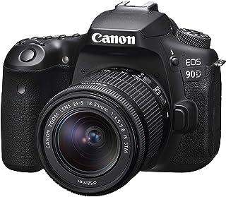 Canon EOS 90D DSLR with EFS 18-55mm f/4-5.6mm STM Lens , Black (90DKIS)