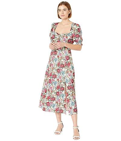 WAYF Hansberry Cap Sleeve Midi Dress