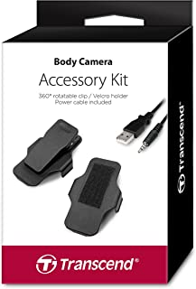 Transcend TS-DBK1 accessoireset voor Bodycam TS-32GDPB20A en TS32GPDB52A (bevat een 360° draaibare clip, een klittenbandsl...