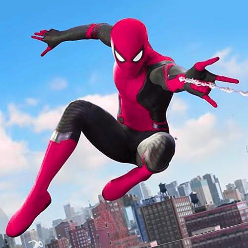 Flying Spider Speed Rope Hero: Crime City Revenge Rescue Simulator