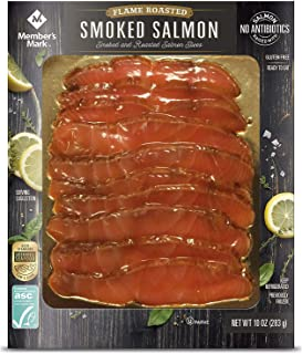 Evaxo Smoked and Flame Roasted Norwegian Salmon Slices (10 oz.) 2 pack