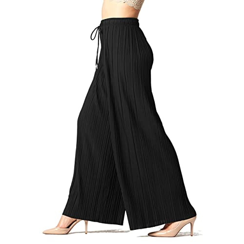 e3a98695a895 Premium Pleated Palazzo Pants for Women and Maxi Skirts - High Waist - Wide  Leg -