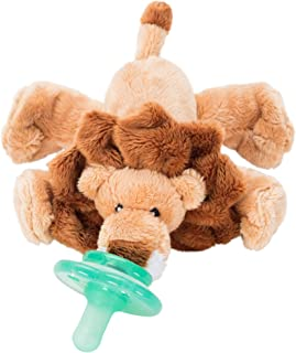 Nookums Paci-Plushies Buddies - Lion Pacifier Holder (Plush Toy Includes Detachable Pacifier, Use with Multiple Brand Name Pacifiers)