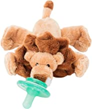 Nookums Paci-Plushies Buddies - Lion Pacifier Holder - Adapts to Name Brand Pacifiers, Suitable for All Ages, Plush Toy Includes Detachable Pacifier