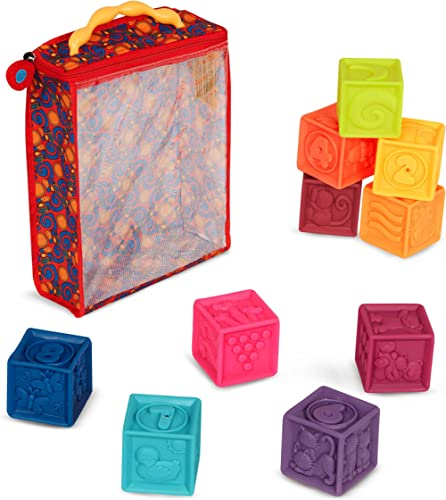 B. toys – One Two Squeeze Baby Blocks - Building Blocks for Toddlers – Educational Baby Toys 6 Months & Up with Numbe...
