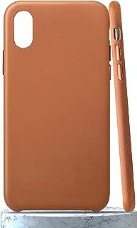 LONLI Classic | iPhone Xs Genuine Nappa Leather Case - Caramel