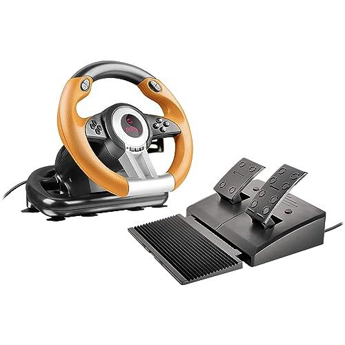 Speedlink DRIFT O.Z. - Volante para juegos de ordenador, color negro y naranja