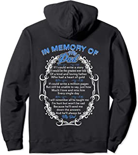 Poem For My Dad in Heaven, My Dad Is My Guardian Angel Pullover Hoodie