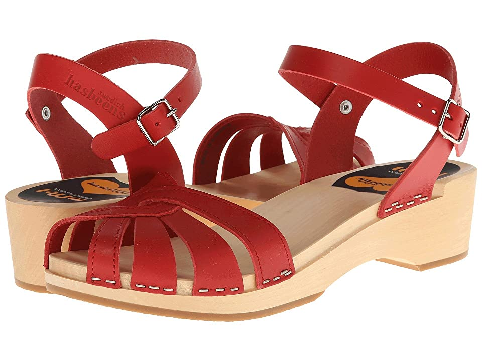 Swedish Hasbeens Cross Strap Debutant (Red) Women