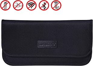 Faraday Bag, Wisdompro RFID Signal Blocking Bag Shielding Pouch Wallet Case for Cell Phone Privacy Protection and Car Key FOB (Black)
