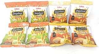 Calbee Jagabee Potato Sticks Bundle Pack (Butter Soy Sauce & Lightly Salted), 8 Pack