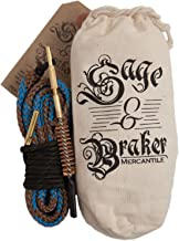 Gun Cleaning Kits by Sage & Braker. Detachable Bronze Brush Makes for The Fastest, cleanest and Easiest Way to Clean Your Shotgun and rifle's bore.