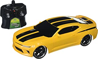 Jada 98728 Toys Hyperchargers 1: 16 Big Time Muscle R/C '16 Chevy Camaro Ss Vehicle, 1/16 Scale, Yellow With Black Stripes