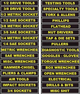 126A - Magnetic Tool Box Labels