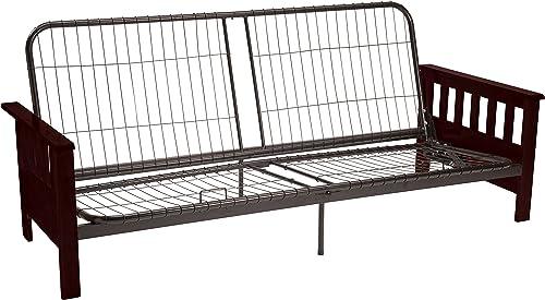 Berkeley Mission-style Futon Sofa Sleeper Bed Frame, Queen-size, Mahogany Arm Finish