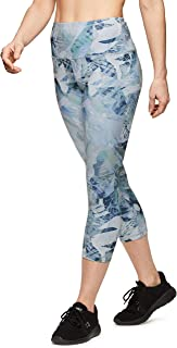 RBX Active Women's Athletic Fashion Seasonal Printed Capri Length Yoga Leggings