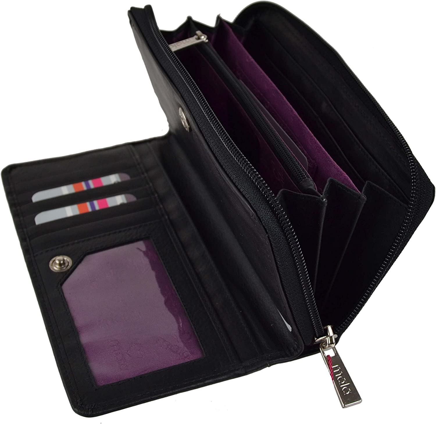 Mala Challenge the lowest price of Japan ☆ Leather Women's Top Long Protection Rfid Soft Purse Boston Mall
