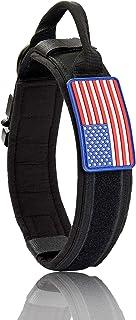 Tactical Dog Collar Adjustable Military Dog Collar with Metal Buckle & Handle 1.8inch Wide Polic Camo Nylon Camo Collar (B...