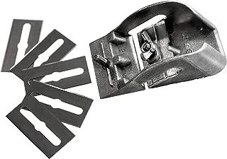Cepillo de carpintero Manual para Madera /Made in Germany/ 80 mm con 5 cuchillas de repuesto - Maquinilla de mano para Madera