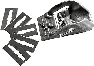 S&R Zakschaaf, Made in Germany, 80 mm met 5 reservemesjes, mini-houtschaaf, handschaaf, eenvoudige schaaf, eenhandschaaf, ...