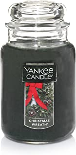 Yankee Candle Large Jar Candle, Christmas Wreath