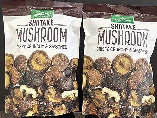 The Snak Yard Shiitake Mushroom 7.5 Oz Crispy Crunchy & Seasoned - PACK OF 4