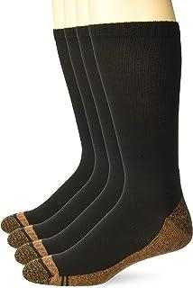 Carolina Ultimate Men's Copper Ultra-Dri Seamless Boot Crew Socks 4 Pair Pack