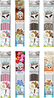 Milk Magic Milk Flavoring Straws 32 Straw Variety Pack Flavors May Include: Cookies and Cream, Chocolate, Strawberry, Cott...