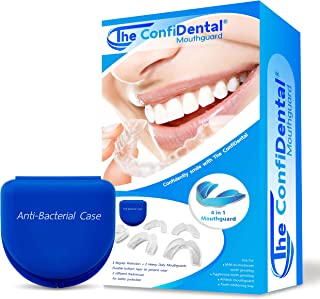 The ConfiDental - Pack of 5 Moldable Mouth Guard for Teeth Grinding Clenching Bruxism, Sport Athletic, Whitening Tray, Inc...