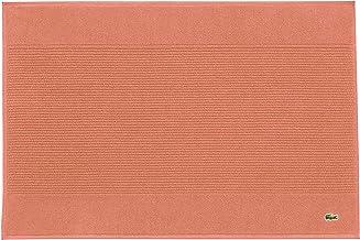 """Lacoste Legend 100% Supima Cotton Towel, 650 GSM, 21""""W x 31""""L Bath Mat, Adobe"""