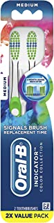 Oral-B Indicator Contour Clean Manual مسواک متوسط ، 2 تعداد