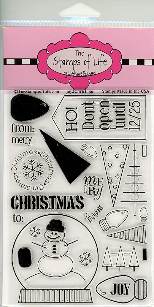 Holiday Joy Clear Stamps for Scrapbooking and Card-Making by The Stamps of Life - Joy2Christmas